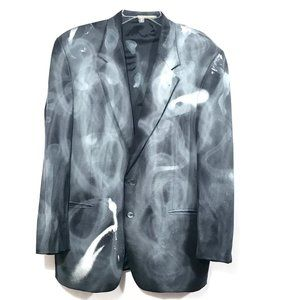 JOSEPH ABBOUD X CUSTOM Jacket 43R Graffiti Blazer